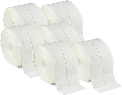 Torunda de celdas 1000 N&BF (2 rollos con 500 trozos), torunda de celulosa, sin pelusas, 12 capas para uñas, uñas de gel, diseño de uñas y manicura: Amazon.es: Belleza