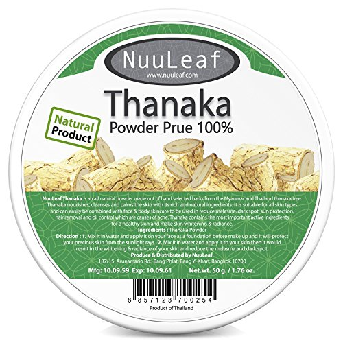 Thanaka For Face Powder - Reduces Melasma & Dark Spot Treatment - Sun Protection - Skin Whitening & Radiance Help Anti-Acne + Aging, Acne Scars Removal, Age Spots - 100% - Treatment Hair Banana