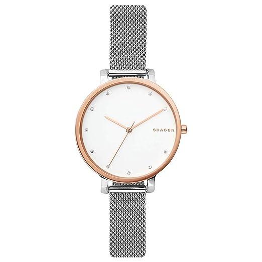 Skagen Reloj Cronógrafo para Mujer de Cuarzo con Correa en Acero Inoxidable SKW2662: Amazon.es: Relojes