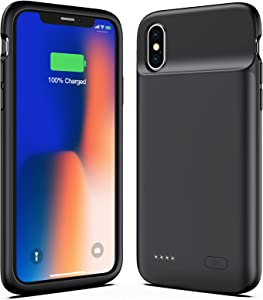 Battery Case for iPhone X XS 10, New Version 4100mAh Slim Portable Charging Case Protective Rechargeable Charger Case Extended Battery Compatible with iPhone X XS 10 (5.8 inch) - Black
