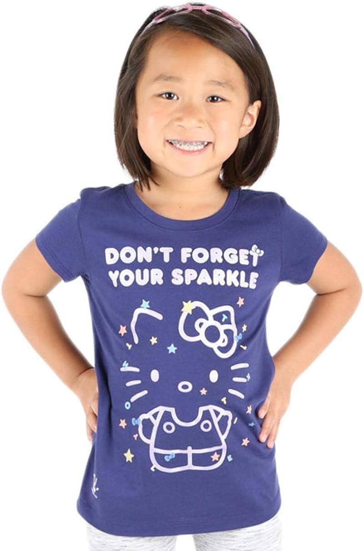 Hello Kitty T-Shirt Girl Power Motto Text Choose Heather Grey or Navy