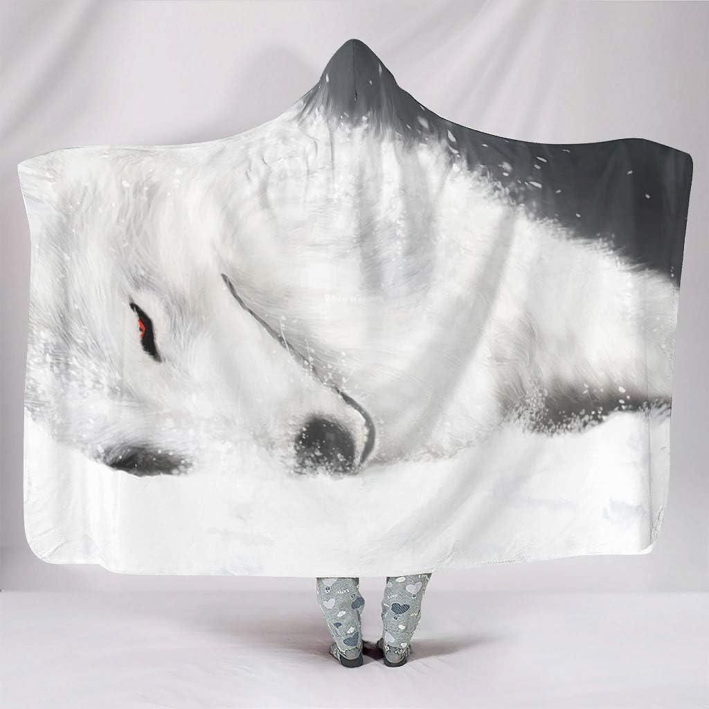 Zhenxinganghu Winter-is-Coming - Sudadera con capucha para silla de invierno (150 x 200 cm), color blanco