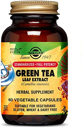 Solgar Standardized Full Potency Green Tea Leaf Extract Vegetable Capsules, 60 Count