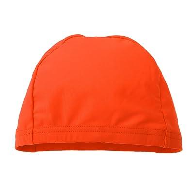 Homyl 1 Pc de Sombrero de Ciclismo Gorra de Piscina de Hombres y Mujeres para Juegos y Ejercicios de Deportes - Naranja: Deportes y aire libre