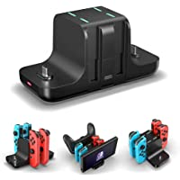 Controller Charger Dock for Nintendo Switch,6 in 1 Charging Station for Nintendo Switch Joy-Con Controllers and Pro…