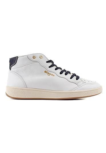 Blauer Herren Sneaker High MURRAY 02 Leder Weiß  Amazon.de  Schuhe ... 5a87f0d7eb