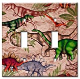 Art Plates - Jungle Dinosaurs Switch Plate - Double Toggle