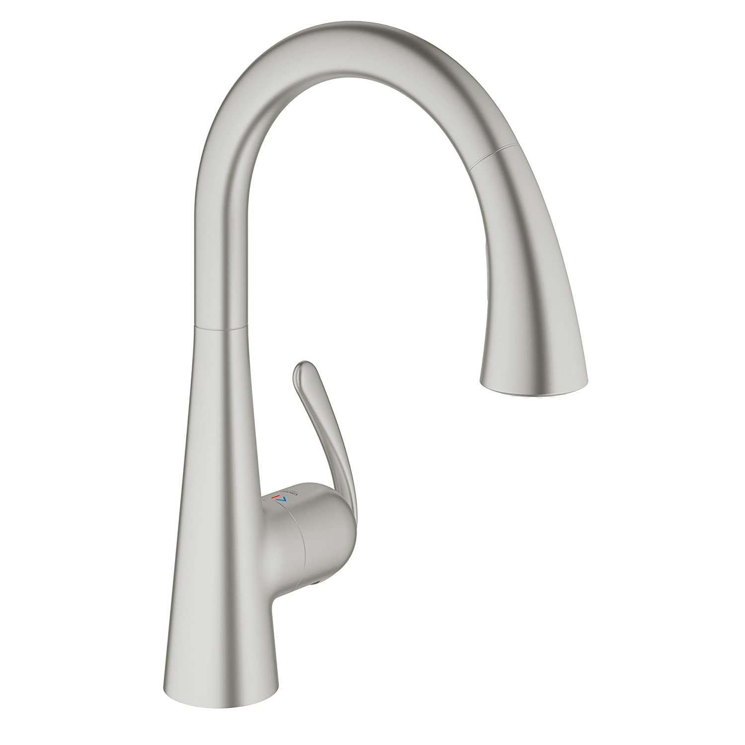 GROHE LadyLux3 Café Single Handle Pull Down Kitchen Faucet Super