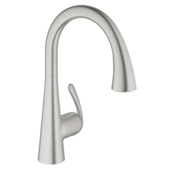 Grohe Ladylux3 Cafe Single Handle Pull Down Kitchen Faucet Super