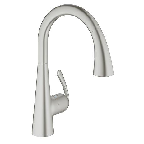 Grohe Ladylux3 Café Single-Handle Pull-Down Kitchen Faucet, Super