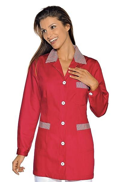 Isacco-túnica médica Marbella, Color Rojo a Rayas, Color Rojo Rojo Small