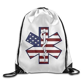 Funny impermeable EMT estrella de vida táctica parche bolsas cordón mochila Bolsa de viaje, Blanco: Amazon.es: Deportes y aire libre