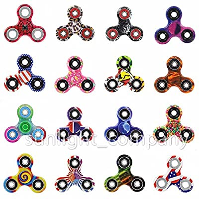 Value Pack 100 pcs Mixed Anxiety EDC Tri Bar Fidget Hand Spinner Focus Toy