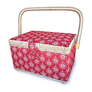 bbloop® Vintage Sewing Basket (med) w/ Notions