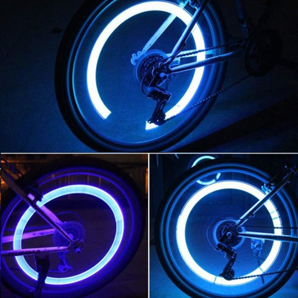 RuiQ Waterproof Led Tire Lights Led Highlight Tires The Coolest Easter Gifts for Loved Ones Car Tire Valves Universal Tire Lights Children Bicycle Wheel Lights