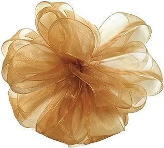 "product image for Offray Berwick LLC 427514 Berwick Simply Sheer Asiana Ribbon - 1-1/2"" W X 25 yd - Old Gold Ribbon"
