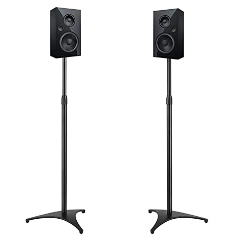 PERLESMITH Adjustable Height Speaker Stands Extends 30quot To 45quot Hold Satellite