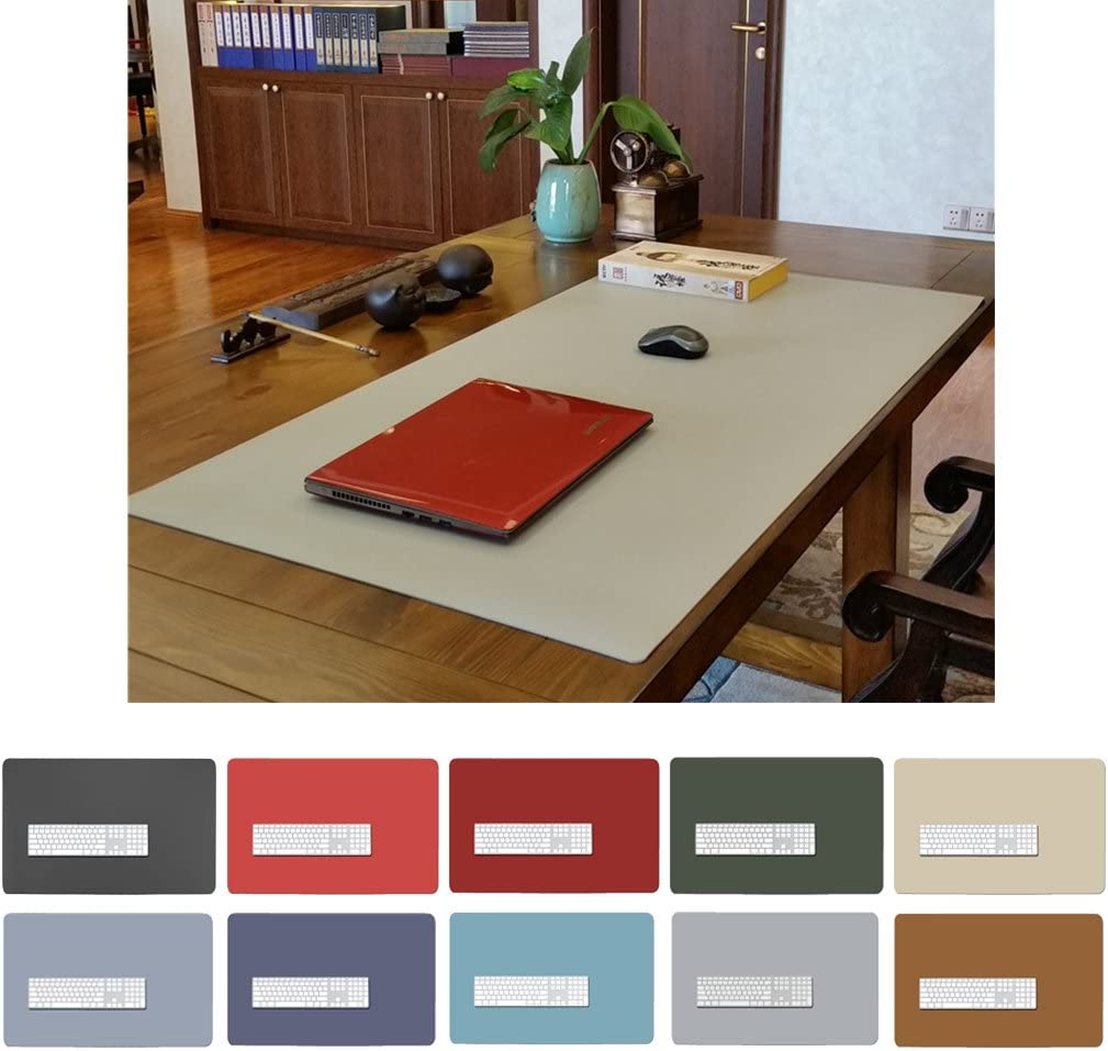 PU Leather Table Pad 27 X 17 Desk Cover Protector Waterproof Gaming Mouse Pad red ZSZBACE Office Desk Mat