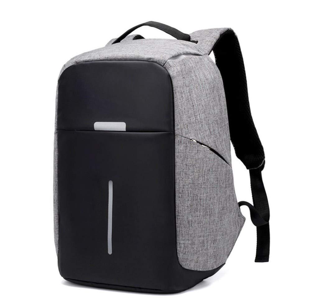 719849d2cda8 Amazon.com  Gray Anti-Theft Waterproof Backpack External USB Charge Port 15