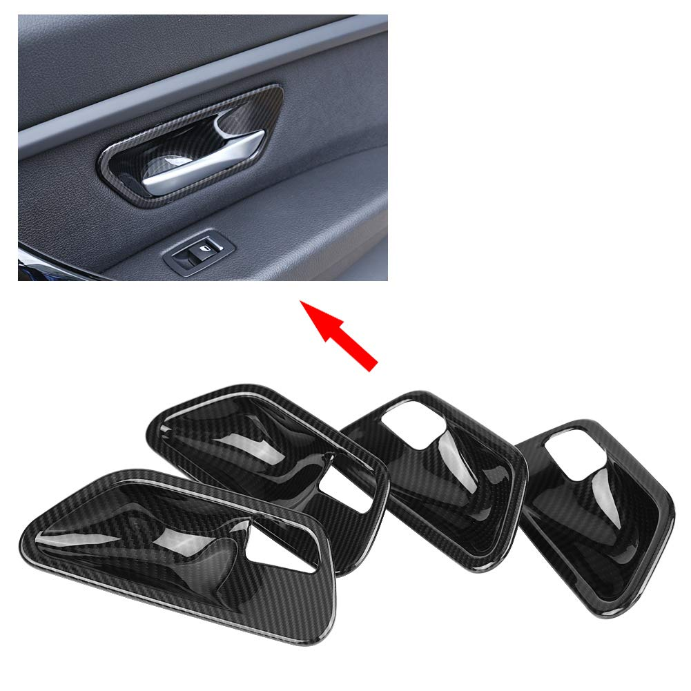 2pcs Interior Carbon Fiber Style Door Handle Cover For BMW 3 4 Series F30 F35 Car & Truck Interior Door Panels & Parts Car & Truck Interior Parts