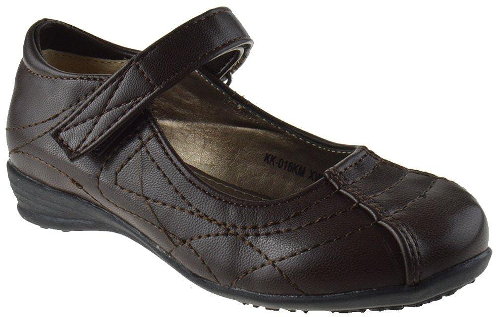 Lucita KK-016KM Little Girls Mary Jane Buckle School Shoes Black