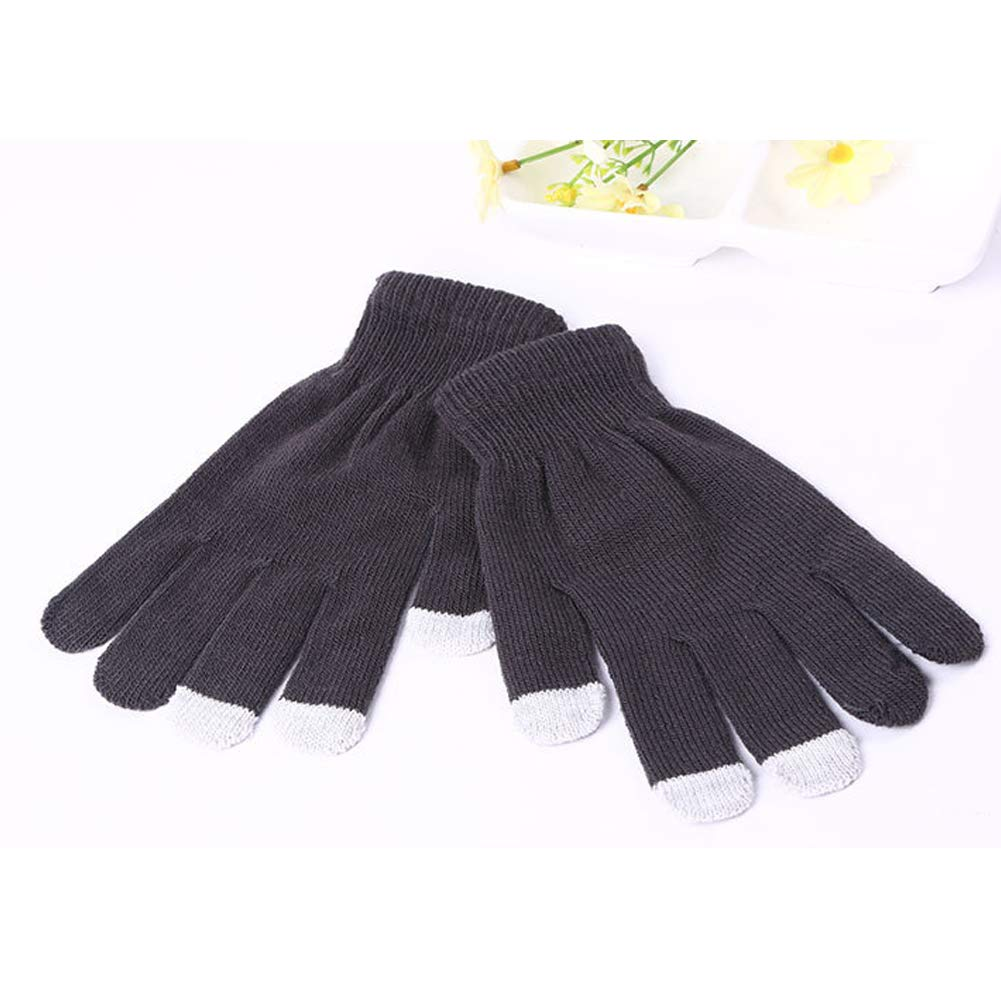 CHUANGLI 6 Pairs Touch Screen Gloves Winter for Men and Women Knitted Warm Gloves
