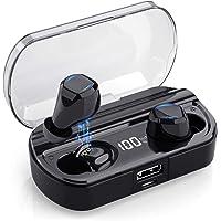 Auricolari Bluetooth Senza Fili,Yacikos Cuffie Bluetooth 5.0 [Nuovo Display LCD] 3500mAh 120H Playtime Audio Stereo 3D in Ear con Mic, Mini Cuffie True Wireless Sport IPX7 Impermeabile per iOS Android