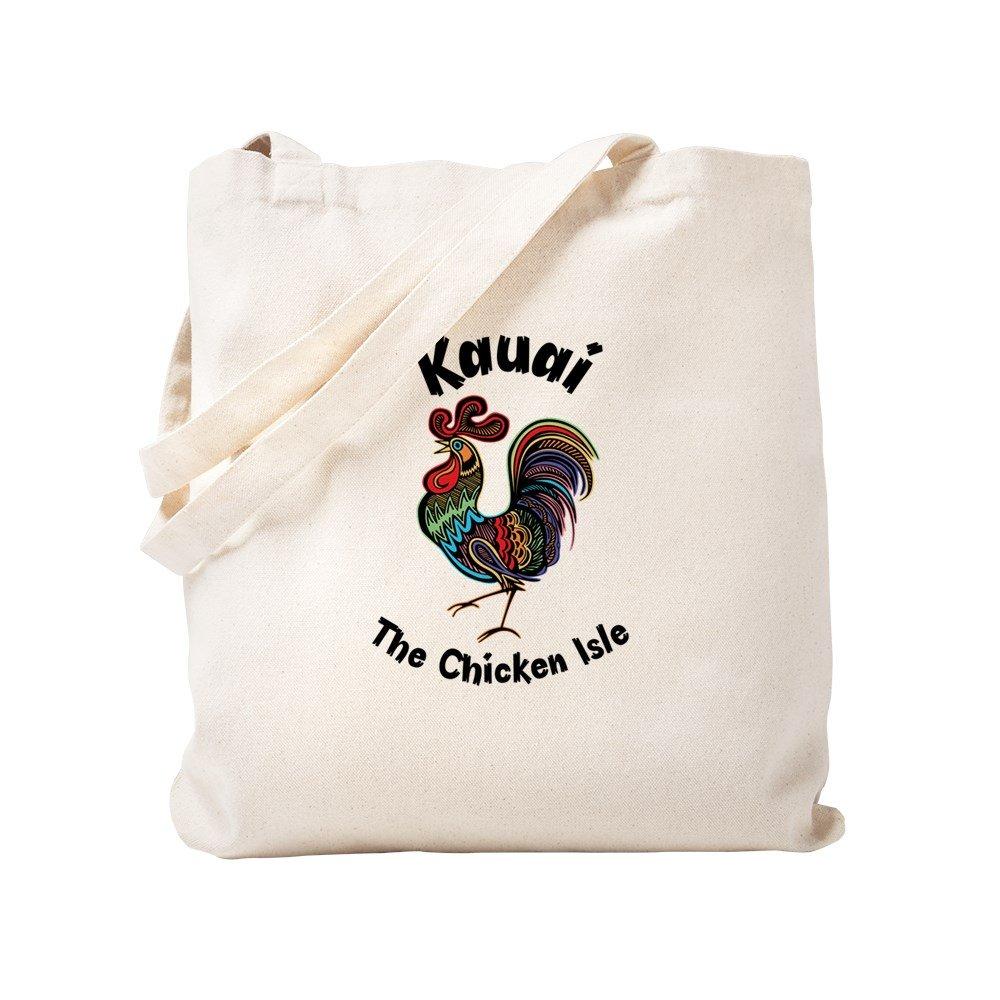 CafePress – カウアイ島 – The Chicken Isle – ナチュラルキャンバストートバッグ、布ショッピングバッグ S ベージュ 1436884273DECC2 B0773QC2L3 S