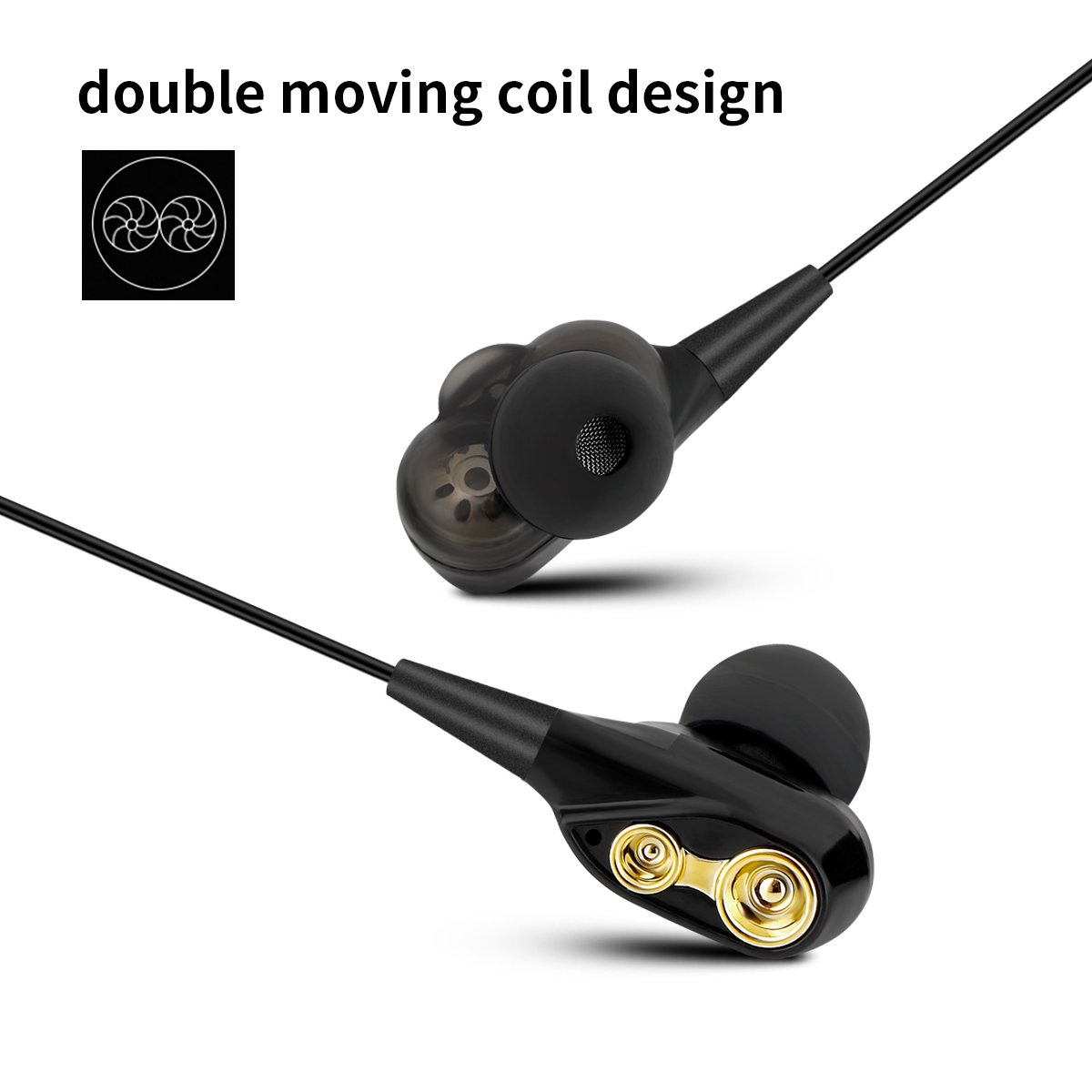 Type C Headphones, USB C Hi-Fi Stereo Digital Earbuds Sweatproof In-Ear Earphones with Mic Compatible with Google Pixel 2,Samsung Note 8,S8/S8+/S9,S9+, Moto Z, HTC U11, Essential PH-1 etc