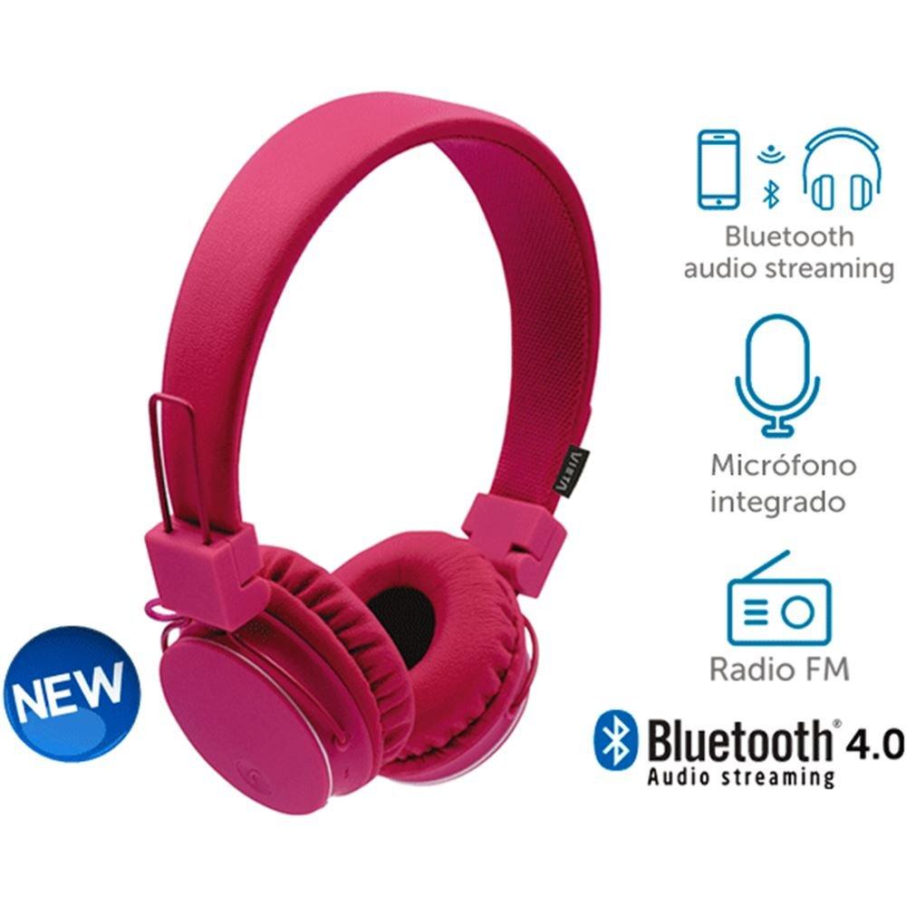 Vieta - Auriculares de diadema bt180pk bluetooth y radio fm