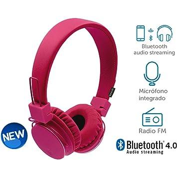 Vieta - Auriculares de diadema bt180pk bluetooth y radio fm: Amazon.es: Electrónica