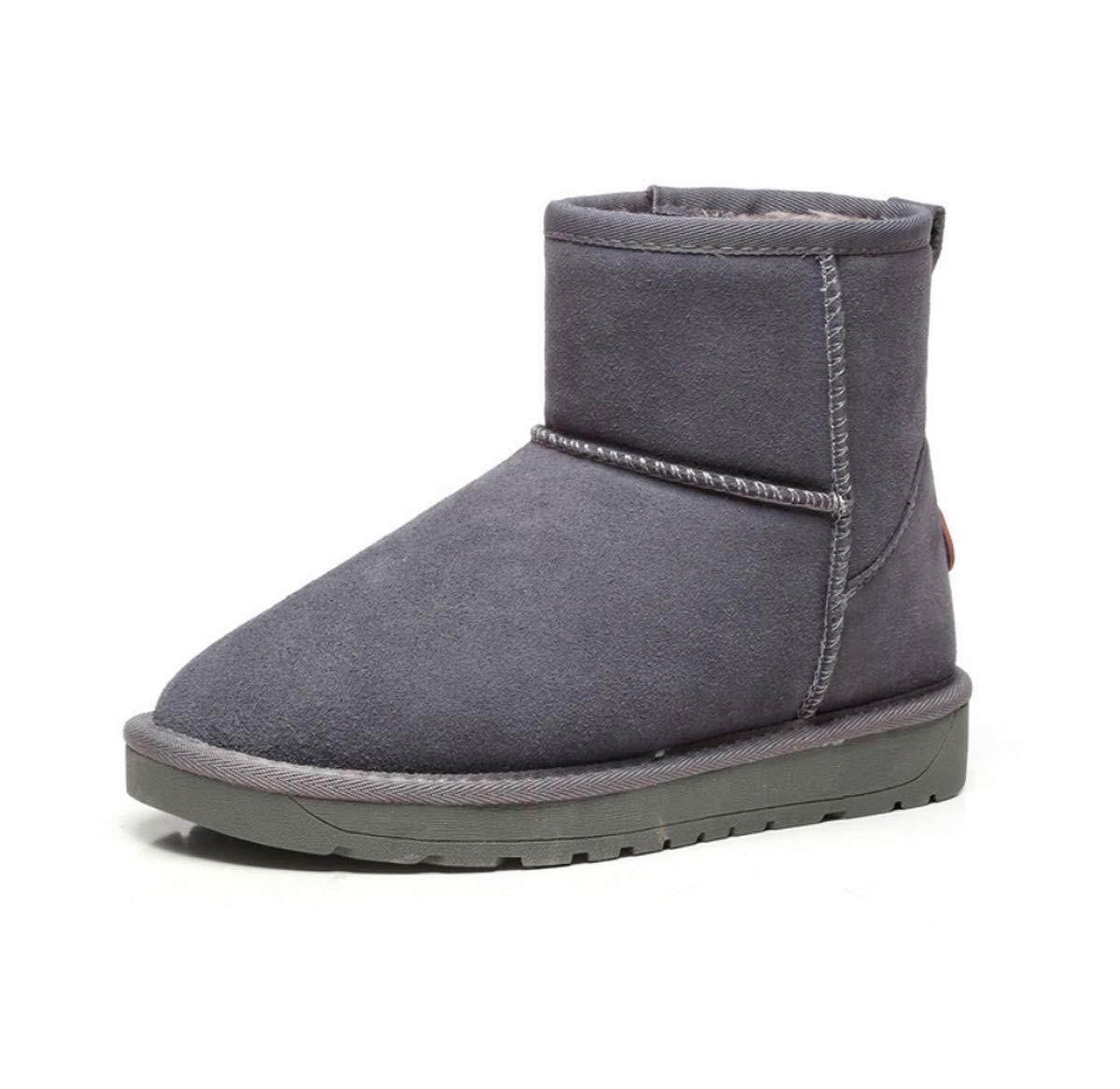 DANDANJIE Frauen Winter Snow Snow Snow Stiefel Classic Warm Mid-Calf Stiefel Hidden Heel Rutschfeste Schuhe für Lady Girls 979841