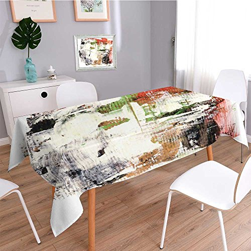 UHOO2018 Printed Tablecloth,Abstract Watercolor Hand Painted by me. Nice Background for Your Projects. More Images Like This in My Portfolio,Indoor Outdoor Spillproof Stain Resistant Tablecloth