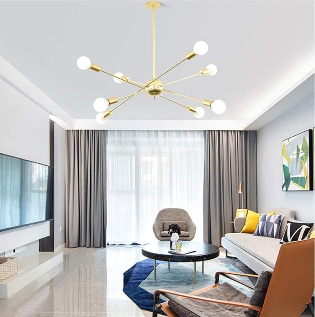 tama/ño 105 y tiempos 68 cm Ara/ña sat/élite moderna y minimalista l/ámpara de techo de Sputnik de varias cabezas para sala de estar club de caf/é caf/é//negro negro 6 cabezas