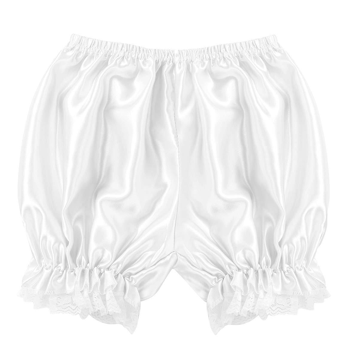 Tiaobug Damen Unterhose langes Bein Schl/üpfer Slip mit R/üschen Spitze Frauen Sicherheits Shorts Unterw/äsche Leggings Kurz Mit Spitze Yoga Hose Shorts Tanzen M-XL