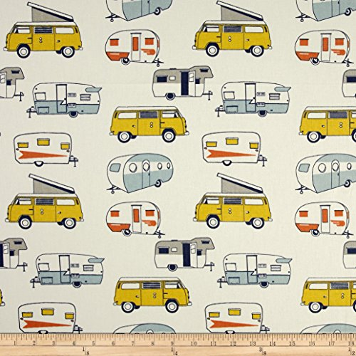 Premier Prints Vintage Camper Maya Macon Fabric By The (Vintage Print Fabrics)