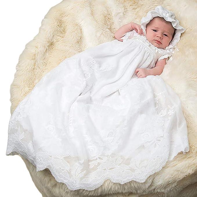 ShineGown - Ropa de Bautizo - para bebé niña Blanco Blanco 6 ...