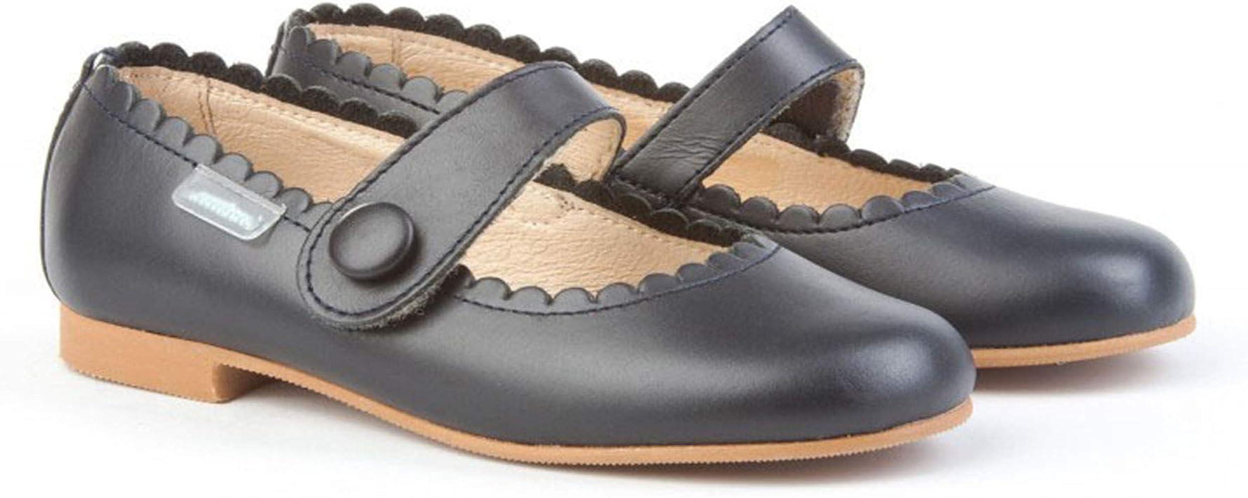 Zapatos Merceditas de niña con Cierre de Velcro. Este Zapato Francesita está Fabricado en Piel y Hecho en España - Mi Pequeña Modelo 1512I Color Azul Marino.: Amazon.es: Zapatos y complementos