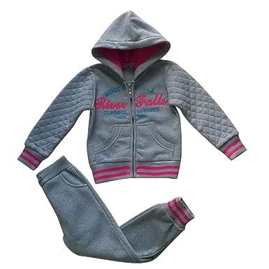 Fashion - Chándal para niño niña Smile Girls gris tamaño de 4 a 12 ...