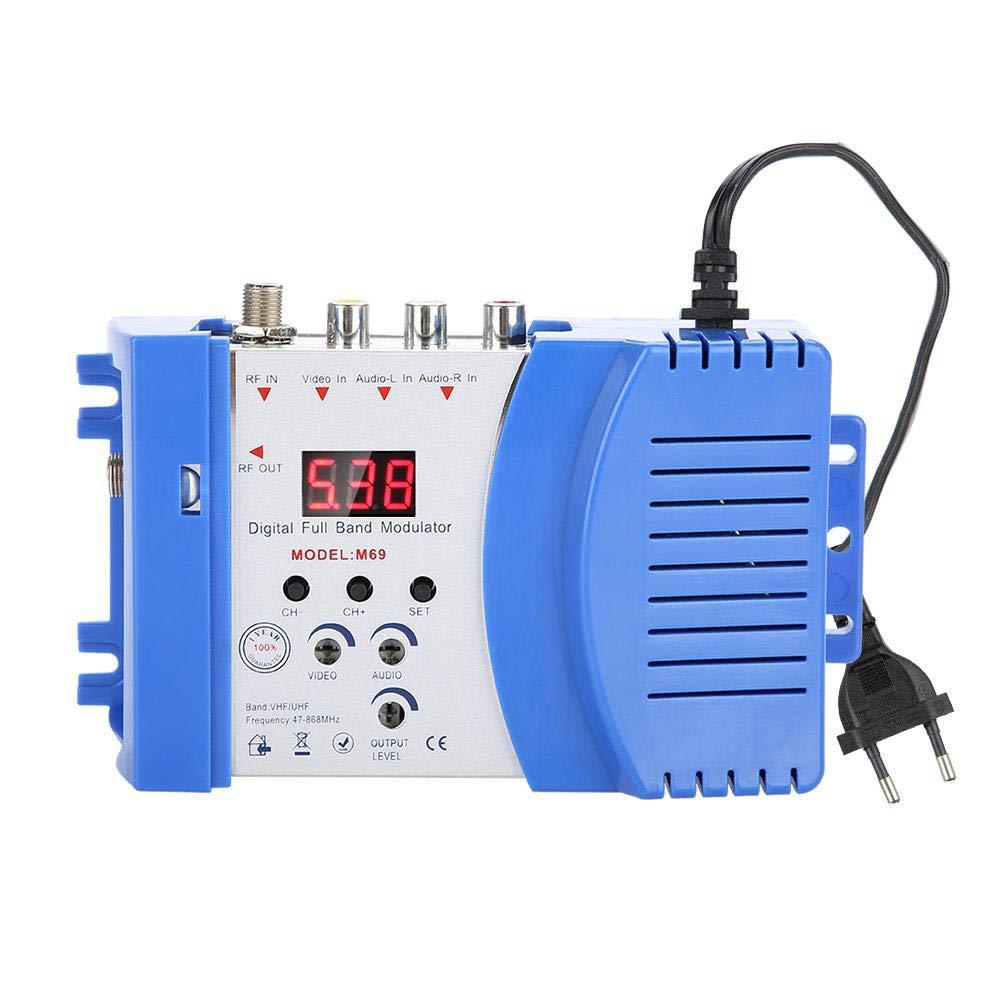 Modulador digital de radiofrecuencia Modulador universal dom/éstico compacto Modulador digital de radiofrecuencia Convertidor de audio y video Convertidor de se/ñal Convertidor de se/ñal VHF UHF EU