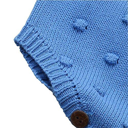 e832af323 Eiffel Direct Baby Girls Boys Knitted Striped Spot Romper Sleeveless ...