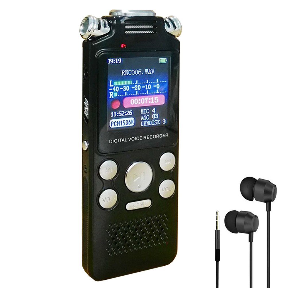 Upworld Digital Voice Recorder, 8GB Sound Audio Recorder Dictaphone with USB, MP3 player, Triple Microphone, Portable & Rechargeable recorder for Lectures Meetings