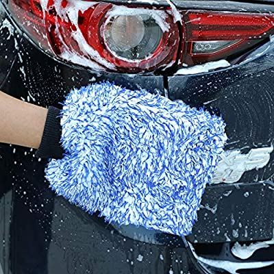 TAKAVU New Car Wash Mitt 2 Pack, Premium Cyclone Microfiber Washing Gloves, Holds Tons of Sudsy Water for Effective Washing, Machine Washable, Lint Free, Scratch Free: Automotive