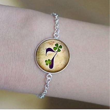 Amazon com: Lucky Number Seven 7 Bracelets - Lucky Bracelets