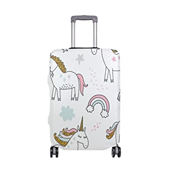 OREZI Luggage Protector Unicorn Magic Seamless Travel Luggage Elastic Cover Suitcase Washable and Durable Anti-Scratch Stretchy Case Cover Fits 18-32 Inches