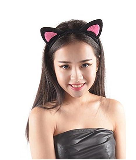51da4dceba2 Amazon.com  Crazy Night Cute Cat Ear Headband Costume Favors Accessories   Clothing
