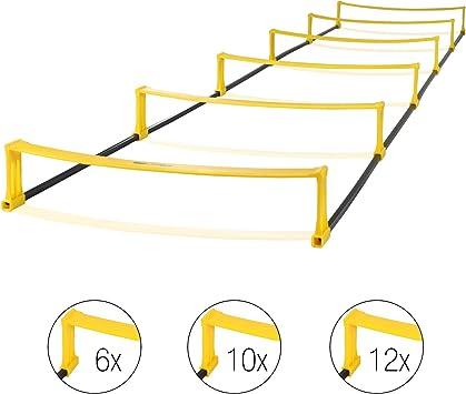 High Pulse escalera de coordinacion – escalera con vallas para un entrenamiento profesional de coordinacion y agilidad (12 obstáculos|4,5 m): Amazon.es: Deportes y aire libre