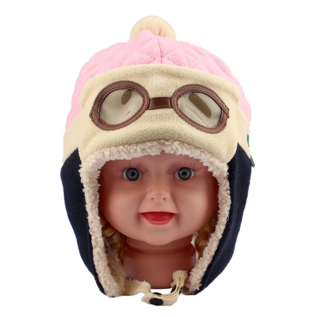 Pink Tonsee/® Toddlers Cool Baby Boy Girl Kids Infant Winter Pilot Aviator Warm Cap Hat Beanie Earflap Hats