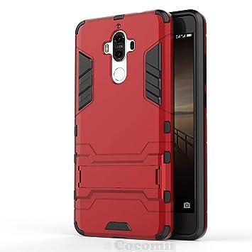 Cocomii Iron Man Armor Huawei Mate 9 Funda [Robusto] Superior Táctico Sujeción Soporte Antichoque Caja [Militar Defensor] Cuerpo Completo Doble Capa ...