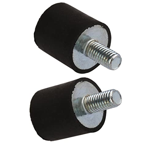 cnbtr VE M5 15 x 15 mm rosca macho de goma anti vibración silentblock para compresores